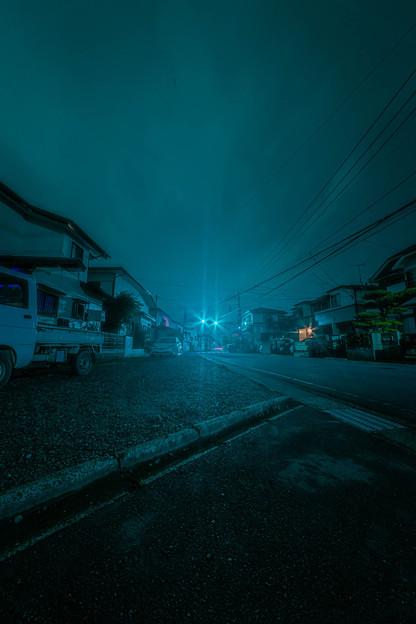 広角で夜景の練習1@近所