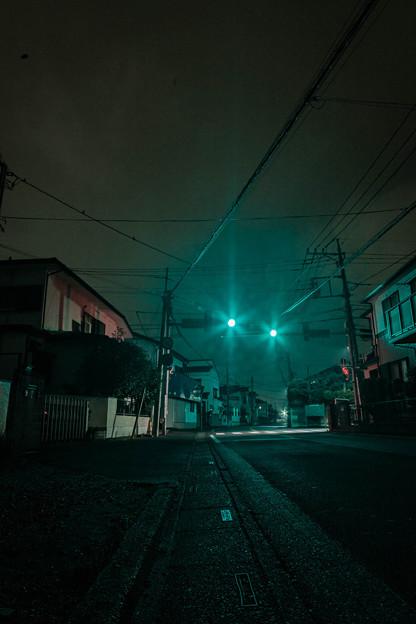 広角で夜景の練習2@近所