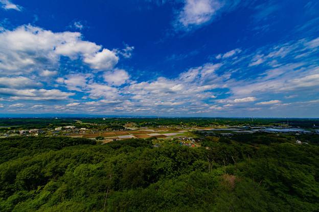 展望台からの眺め@二ノ宮山展望台