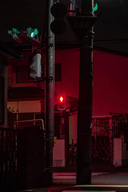 中望遠で夜景の練習@近所