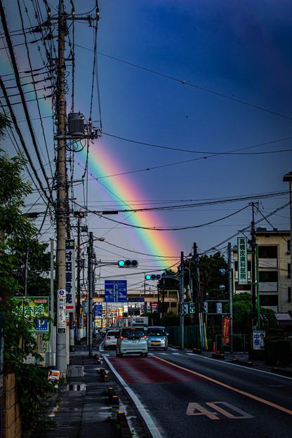 中山道の虹@北本