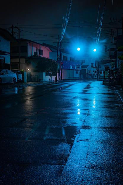雨降りの練習@近所