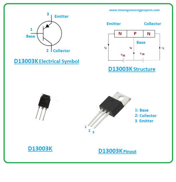 D13003K Datasheet, Pinout, Power Ratings & Applications