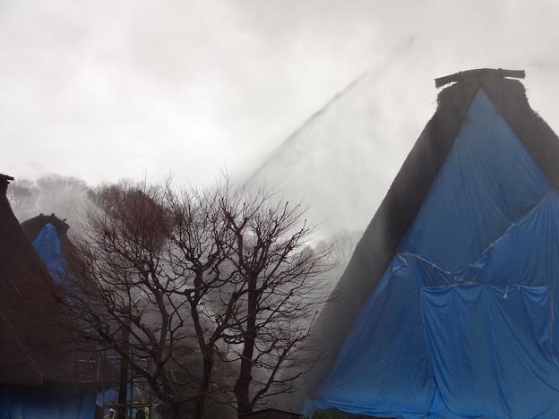 ドレンチャー放水と放水銃によるダブル消火