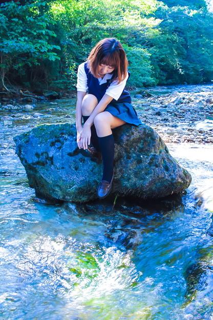 Photos: 放流少女