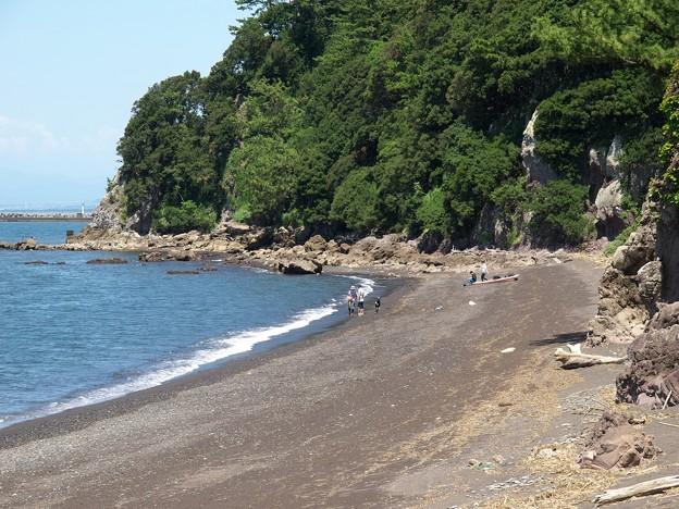浜辺でちゃぷちゃぷ