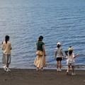 Photos: 波打ち際の三姉妹