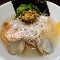 3種の貝ダ塩らー麺@MANNISH神田店・千代田区神田