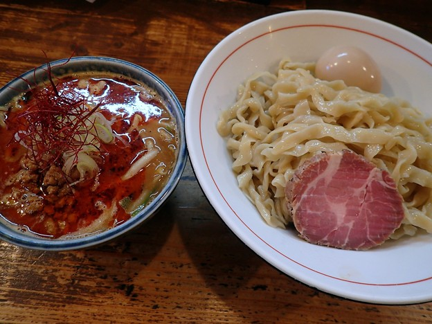 辛味噌つけ麺・大盛+味玉@鶉・武蔵野市