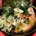 チャーシューメン・油多め+野菜畑@環2家蒲田店・大田区蒲田