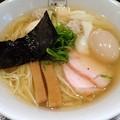 白だし特製ワンタン麺(ハーフ)+味付玉子@八雲・目黒区池尻大橋