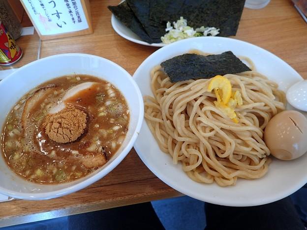 味玉つけそば+のり@すずめ食堂・墨田区曳舟