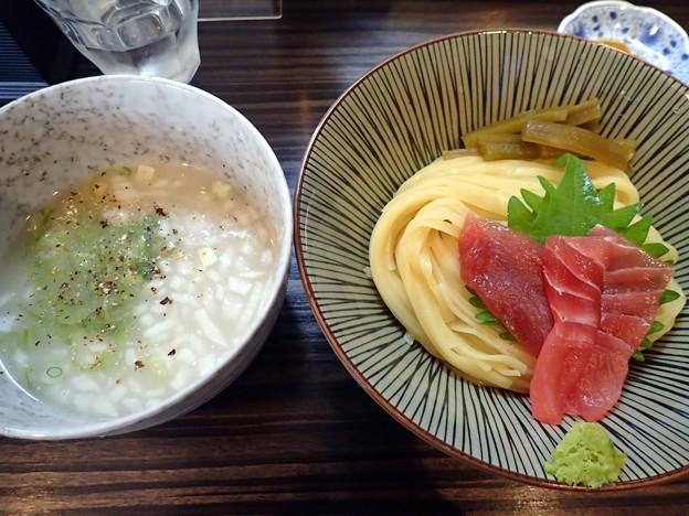 マグロの潮白湯冷やしつけ麺@田なか東池袋本店・豊島区大塚