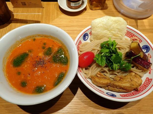 アイコトマトのスパイスつけ麺@ソラノイロARTISAN NOODLES・千代田区麹町