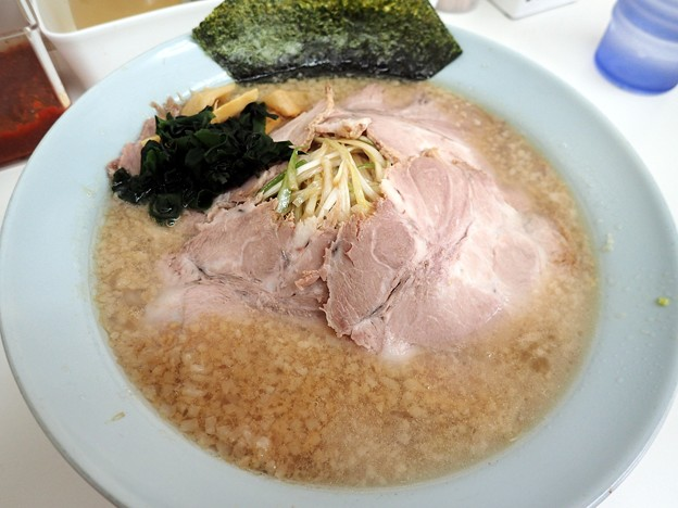 ねぎチャーシュー並・脂多め@〇つばき食堂・小金井市武蔵小金井