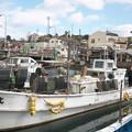 Photos: イカ釣り船、秀光丸・レーダーの設置_