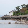 Photos: 都万湾(1)屋那の船小屋