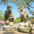 旧西郷・吉田地区、かっぱ公園(3)おしゃべりに熱中のお母さんたち