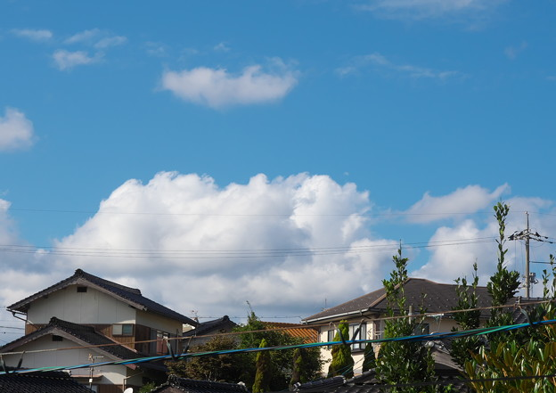 自室窓から、初秋の空・1(9月4日)