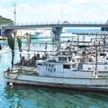 Photos: 港の風景、天神さん前のイカ釣り船(10)