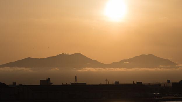 樽前山が雲海に包まれてるよう