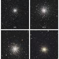 へびつかい座の球状星団 4態