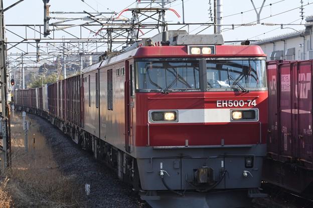 EH500-74号機牽引3064レ黒磯5番入線