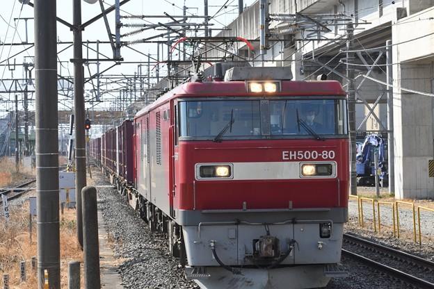 Photos: EH500-80号機牽引3083レ黒磯2番入線
