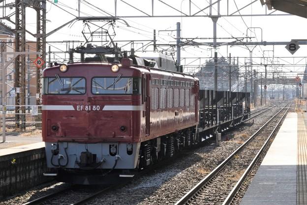 EF81 80号機+ホキ4B黒磯2番入線