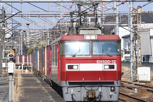 EH500-12牽引3054レ黒磯5番入線