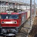 EH500-75号機牽引3086レ