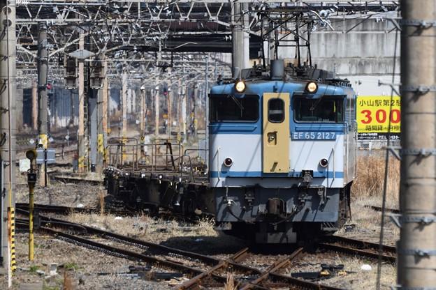 カラシ牽引臨配8592レ小山東3番発車