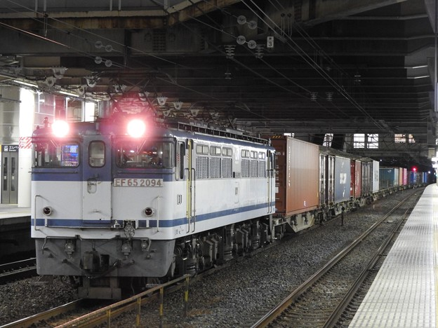 EF65白プレート2094号機牽引4073レ