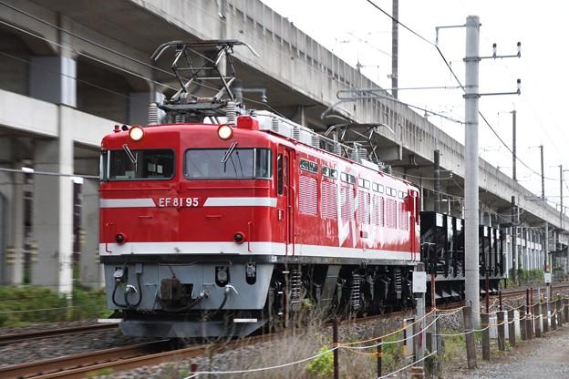 Photos: EF81 95 + ホキ2B 配8937レ