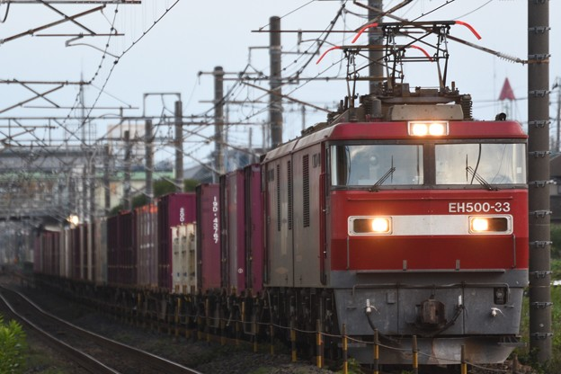 EH500-33牽引3057レ