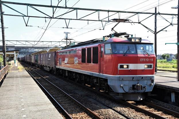 EF510-15牽引3093レ新津4番通過