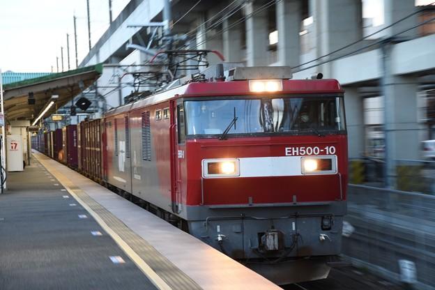 EH500-10牽引3057レ小金井1番通過