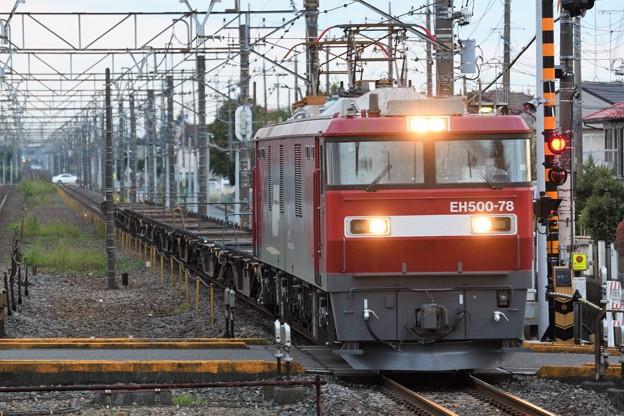 EH500 78牽引8095レ野木通過