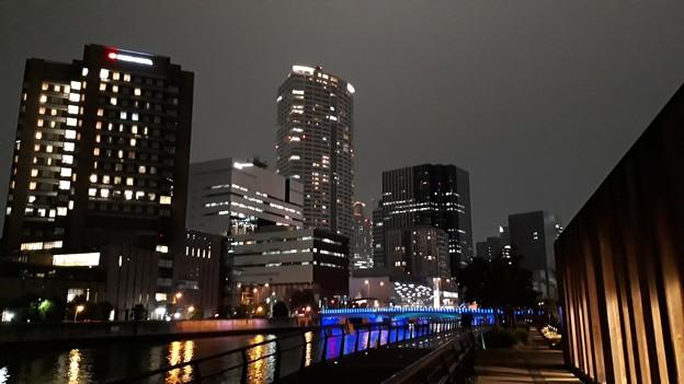 2018.12.21(大阪光の饗宴/中之島駅上がった景色)