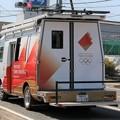 Photos: トヨタ コースター移動中継車(東京2020オリンピック仕様、後部)