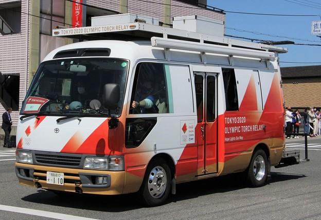 トヨタ コースター移動中継車(東京2020オリンピック仕様)