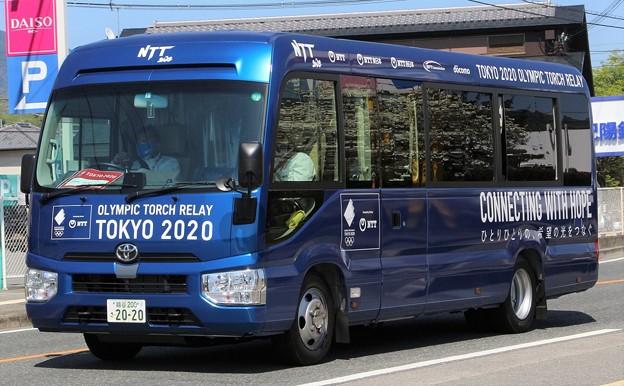 NTT マイクロバス(東京2020オリンピック仕様)