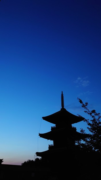 青の夕暮れ1
