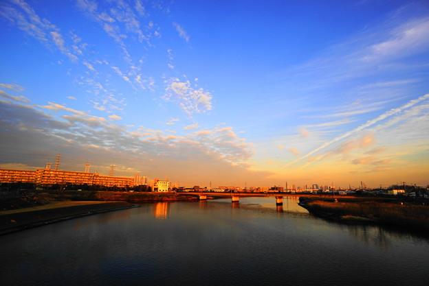 210122_61Y_夕景の川・S1018(鶴見川) (7)