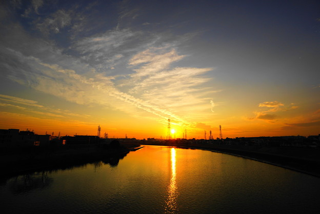 210122_61Y_夕景の川・S1018(鶴見川) (4)