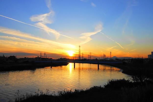 Photos: 201223_51Y_夕景・RX10M3(鶴見川) (2)