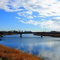 191227_R03_青い空と白い雲・RX10M3(鶴見川) (1)