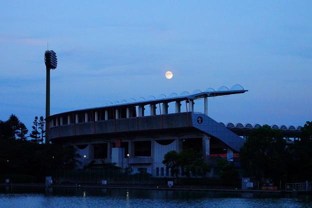 200802_17T_夕方の月・RX10M3(等々力) (9)