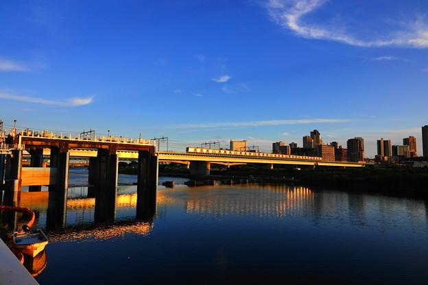 210723_49Y_夕陽の橋梁・RX10M3(多摩川) (9)