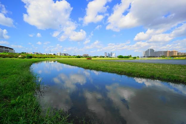 211004_02R_秋空のリフレクション・S1018(多摩川) (2)